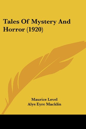 9781104475222: Tales Of Mystery And Horror (1920)