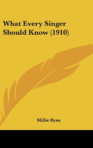 9781104538040: What Every Singer Should Know (1910)