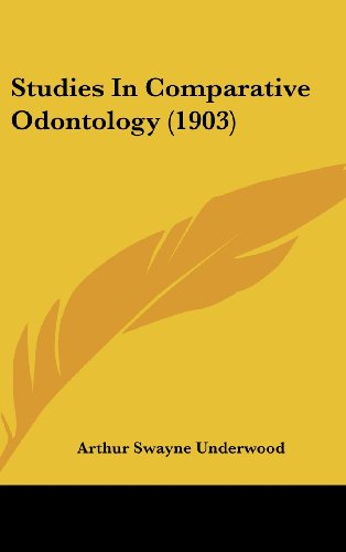 9781104544775: Studies In Comparative Odontology (1903)