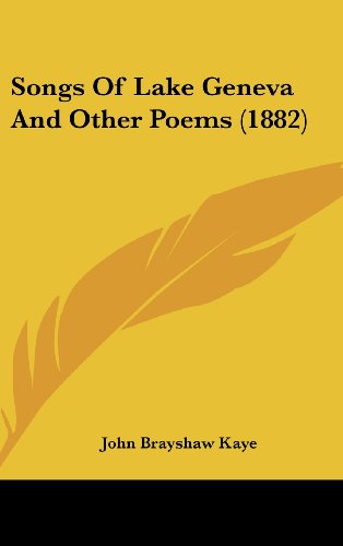 9781104552336: Songs Of Lake Geneva And Other Poems (1882)