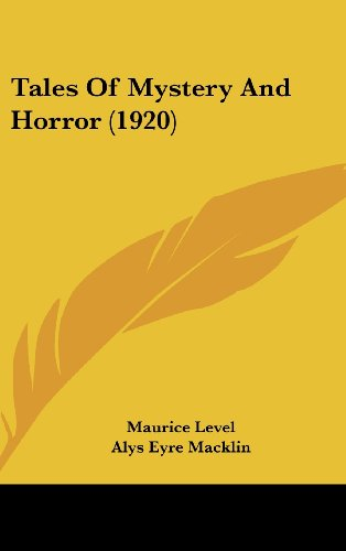 9781104570088: Tales Of Mystery And Horror (1920)