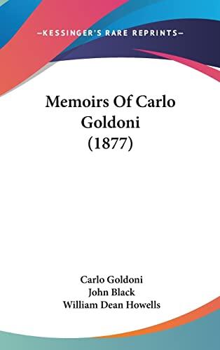 9781104581497: Memoirs Of Carlo Goldoni (1877)