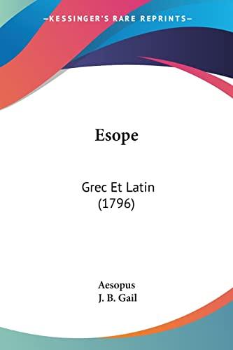 9781104608422: Esope: Grec Et Latin (1796)