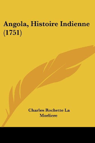 9781104615482: Angola, Histoire Indienne