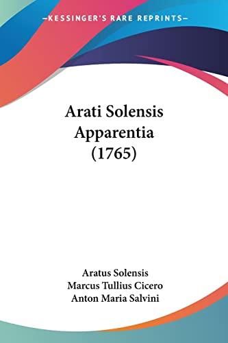 9781104618216: Arati Solensis Apparentia (1765)