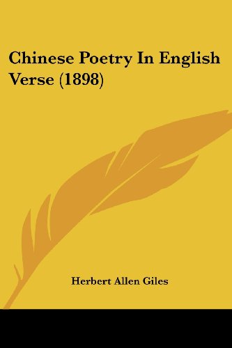 9781104632373: Chinese Poetry In English Verse (1898)