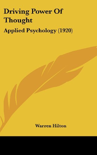 9781104672133: Driving Power Of Thought: Applied Psychology (1920)