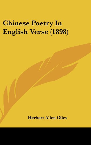 9781104685003: Chinese Poetry In English Verse (1898)