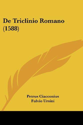 9781104727352: De Triclinio Romano (1588) (Latin Edition)