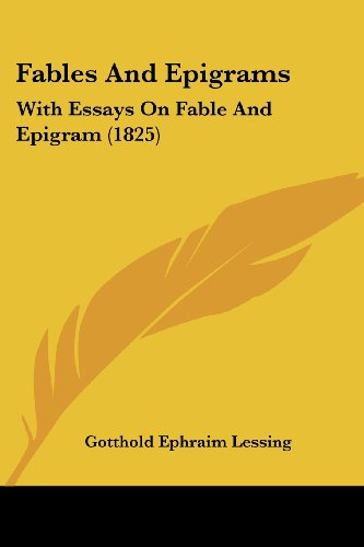9781104747190: Fables And Epigrams: With Essays On Fable And Epigram (1825)