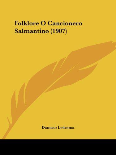 9781104749699: Folklore O Cancionero Salmantino (1907)