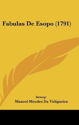 9781104795467: Fabulas de Esopo (1791)