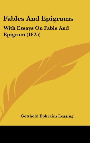 9781104800604: Fables And Epigrams: With Essays On Fable And Epigram (1825)
