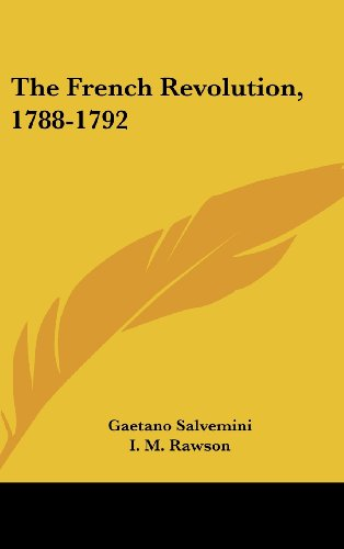 9781104847296: The French Revolution, 1788-1792