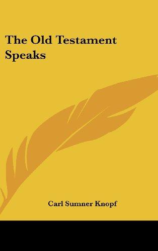9781104848583: The Old Testament Speaks