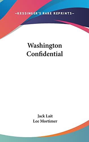 9781104850760: Washington Confidential