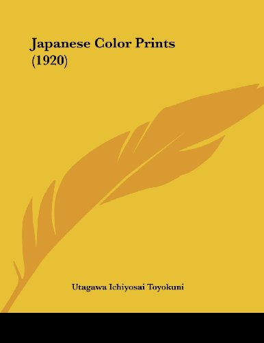 9781104872267: Japanese Color Prints (1920)