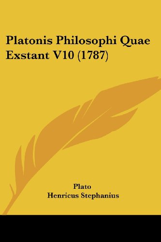 9781104891336: Platonis Philosophi Quae Exstant V10 (1787) (Latin Edition)