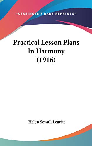 9781104931292: Practical Lesson Plans In Harmony (1916)
