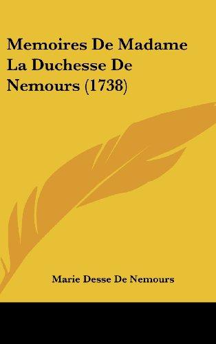 9781104940690: Memoires De Madame La Duchesse De Nemours (1738) (French Edition)