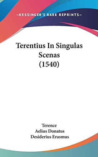 9781104964276: Terentius In Singulas Scenas (1540) (Latin Edition)