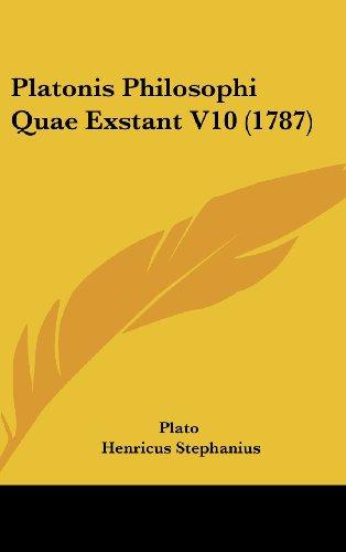 9781104967543: Platonis Philosophi Quae Exstant V10 (1787) (Latin Edition)