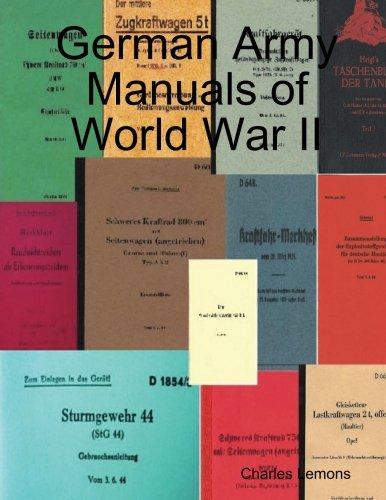 9781105119903: German Army Manuals Of World War Ii