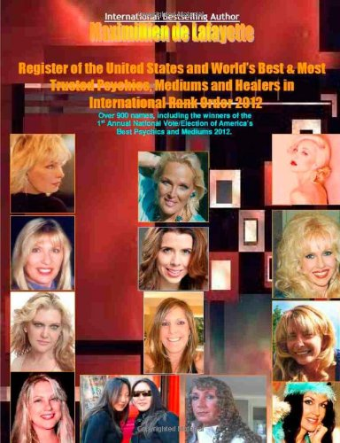9781105530241: Register Of The United States And World'S Best And Most Trusted Psychics Mediums And Healers