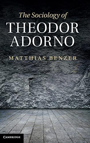 9781107000094: The Sociology of Theodor Adorno