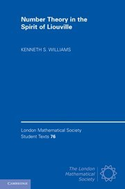 9781107002531: Number Theory in the Spirit of Liouville (London Mathematical Society Student Texts)