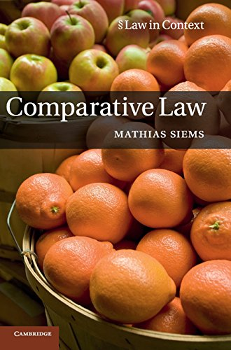 9781107003750: Comparative Law (Law in Context)