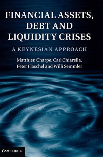 9781107004931: Financial Assets, Debt and Liquidity Crises Hardback