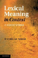 9781107005396: Lexical Meaning in Context: A Web of Words