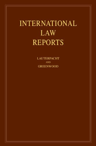 International Law Reports: Volume 146 (Hardcover): Elihu Lauterpacht
