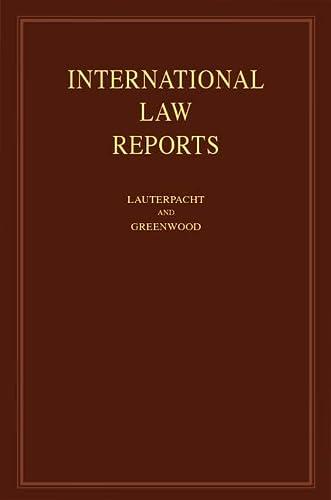 International Law Reports: Volume 146 (Hardcover): Elihu Lauterpacht