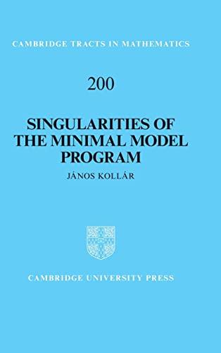 9781107035348: Singularities of the Minimal Model Program (Cambridge Tracts in Mathematics)