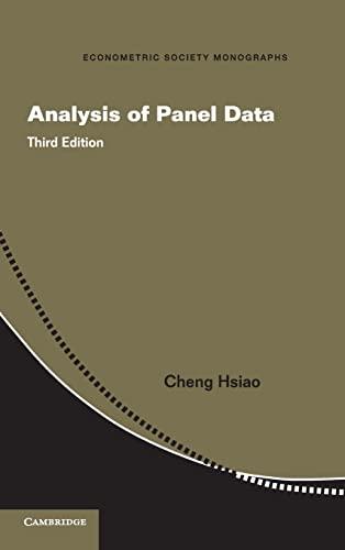 9781107038691: Analysis of Panel Data (Econometric Society Monographs)