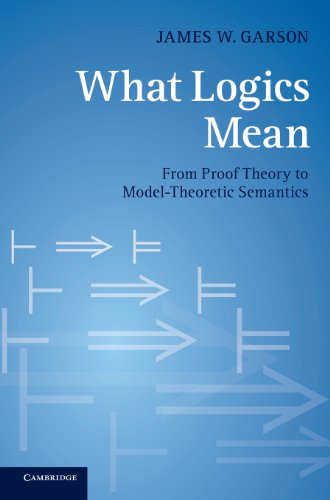 What Logics Mean: From Proof Theory to Model-Theoretic Semantics: Garson, James W.