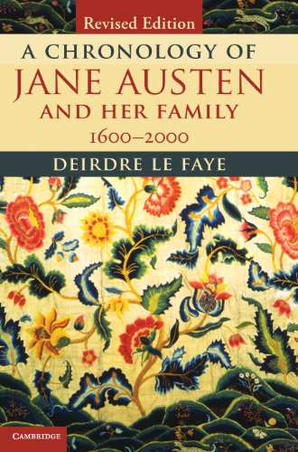 9781107039278: A Chronology of Jane Austen and her Family: 1600-2000