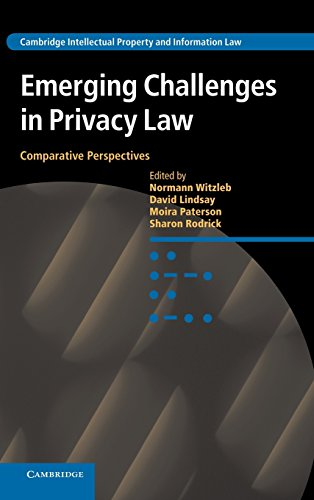 9781107041677: Emerging Challenges in Privacy Law: Comparative Perspectives (Cambridge Intellectual Property and Information Law)