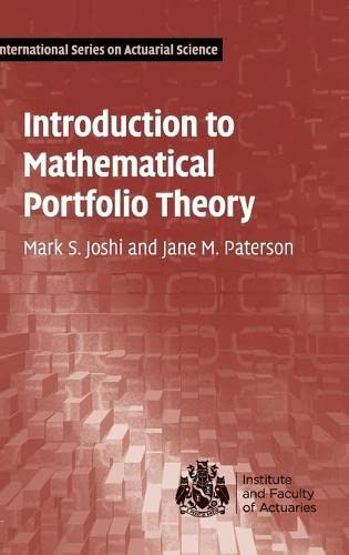 Introduction to Mathematical Portfolio Theory (International Series