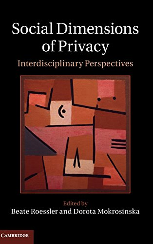 9781107052376: Social Dimensions of Privacy (Cambridge Intellectual Property and Information Law)