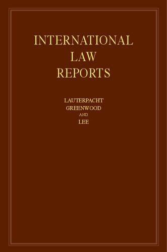 International Law Reports: Volume 160 (Hardcover): Elihu Lauterpacht