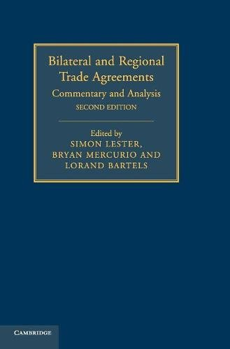 9781107063907: Bilateral and Regional Trade Agreements: Commentary and Analysis (Volume 1)