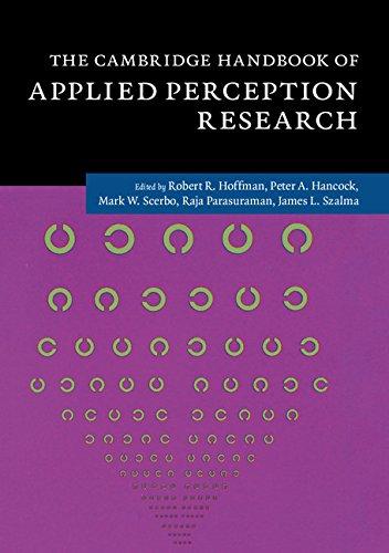 9781107096400: The Cambridge Handbook of Applied Perception Research 2 Volume Hardback Set (Cambridge Handbooks in Psychology)