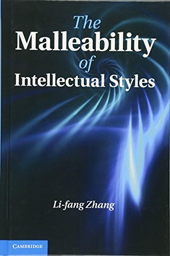 The Malleability of Intellectual Styles: Zhang, Li-fang