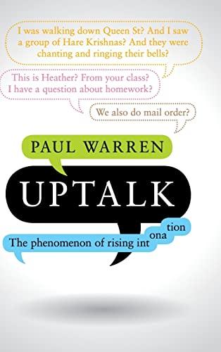 9781107123854: Uptalk: The Phenomenon of Rising Intonation
