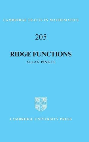 9781107124394: Ridge Functions (Cambridge Tracts in Mathematics)