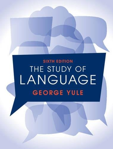 9781107152991: The Study of Language, 6th edition