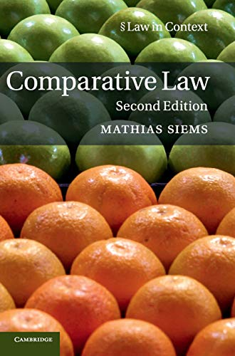 9781107182417: Comparative Law (Law in Context)
